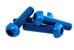 Alu Schraube M5x20 blau-elox 1 Stk. Grossansicht