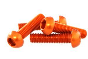 Alu Schraube M5x20 orange-elox 1 Stk. Grossansicht