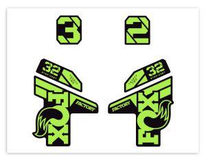 Klebersatz FOX-32 Green Yellow 714-02 Grossansicht