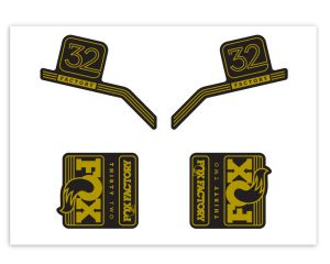Klebersatz FOX-32 Gold Metallic 736 Grossansicht