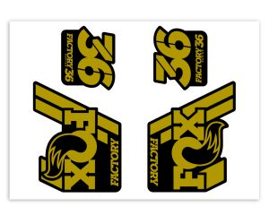 Klebersatz FOX-36 Gold Metallic 736 Grossansicht