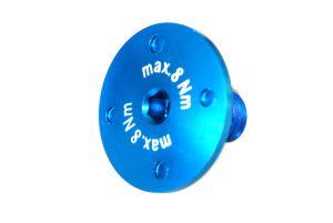 Flachkopfschraube max.8Nm! blau-elox Grossansicht