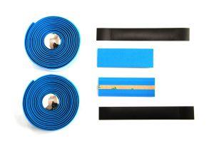 Lenkerband Kork mit Gel, Blau Grossansicht