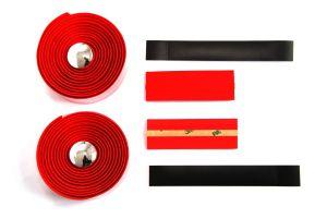 Lenkerband Kork mit Gel, Rot Grossansicht