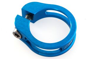 Sattelstützeklemme 31.8 KOBA CNC blau Grossansicht